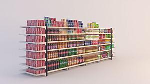 超市物品陈设模型3d模型