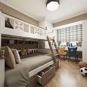 儿童房高低床模型3d模型