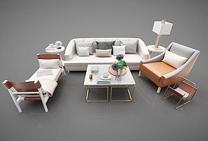 現代風格沙發組合模型3d模型