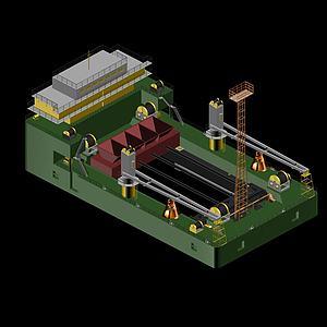 整平船3d模型