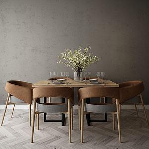 现代风格餐桌模型3d模型