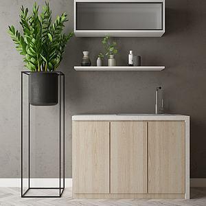 厨房吧台模型3d模型