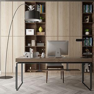 简易办公桌模型3d模型