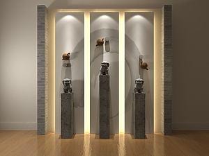 装饰背景墙模型3d模型