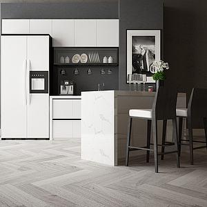开放式厨房模型3d模型
