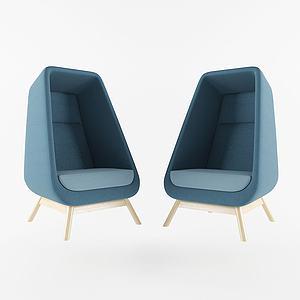 現代半包休閑椅3d模型