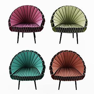 扇子休閑單椅3d模型