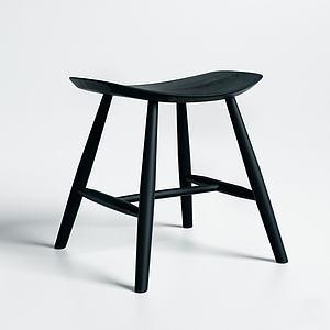 現代翹邊木凳3d模型