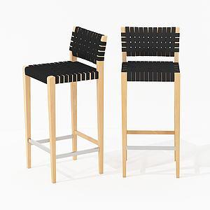 現代編織吧椅3d模型