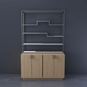 现代边柜收纳柜3d模型