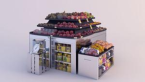 水果攤模型3d模型