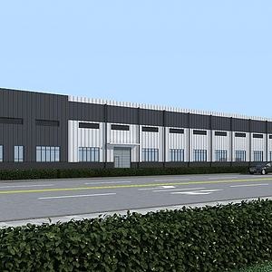 廠房3d模型