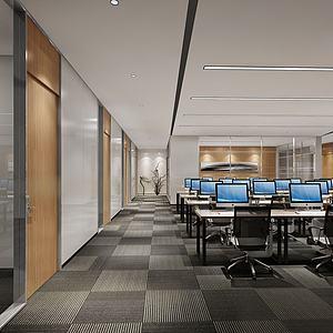 現代辦公室3d模型