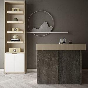 家具饰品组合吧台模型3d模型