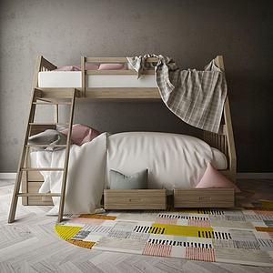 家具饰品组合上下床模型3d模型