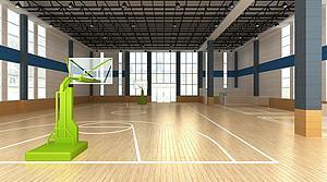 室內籃球館模型3d模型