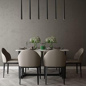 餐厅空间模型3d模型