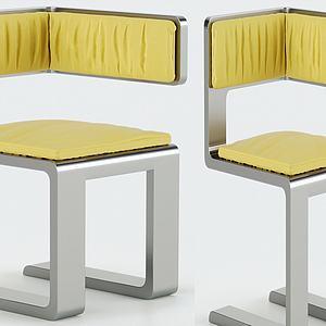 現代休閑創意單椅模型3d模型