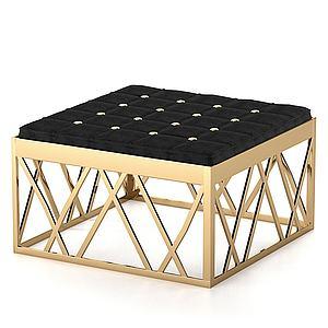 現代簡約四方凳模型3d模型