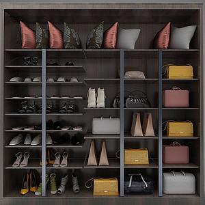 现代风格大衣柜3d模型