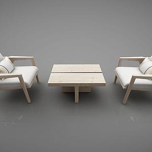 现代风格桌椅3d模型