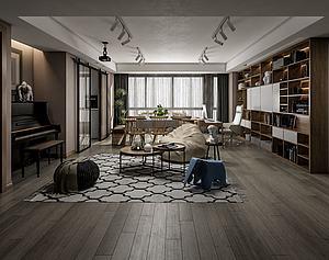 北歐風格客廳模型3d模型