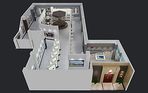 校史館模型3d模型