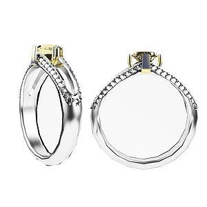 鉆石戒指模型3d模型