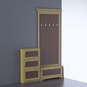 現代門口邊柜衣帽柜3d模型