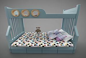 現代風格上下床模型3d模型