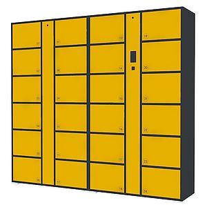 寄存柜3d模型