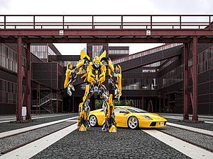變形金剛大黃蜂模型3d模型