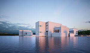 海上别墅模型3d模型