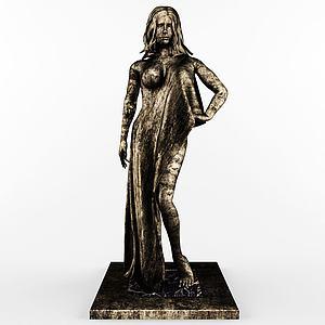黃銅桌雕塑模型3d模型