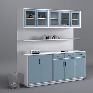 現代醫療處置柜藥品3d模型