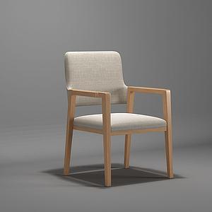 現代書椅休閑椅單椅模型模型3d模型