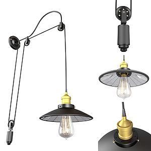 現代輪子壁燈3d模型