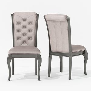 美式休閑面包椅3d模型