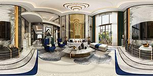 歐式客廳空間模型3d模型