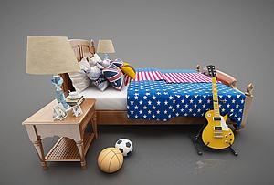 儿童床模型3d模型