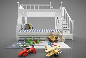 现代风格上下床模型3d模型
