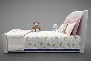 现代风格儿童床模型3d模型