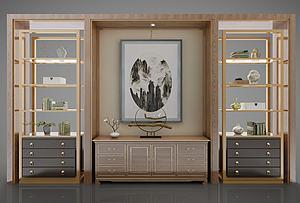 新中式風格裝飾柜模型3d模型