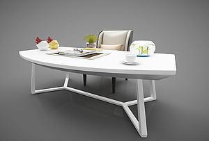 现代风格书桌模型3d模型
