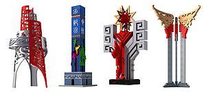 新中式廣場地標景觀雕塑模型3d模型