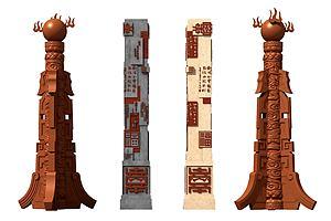 新中式柱子石柱雕塑模型3d模型