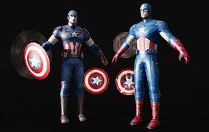 人物美國隊長模型3d模型