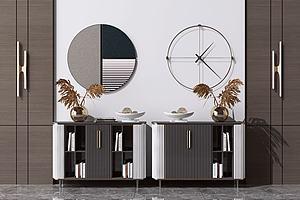 餐边柜模型3d模型