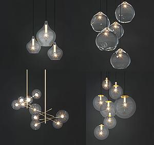 小吊燈模型3d模型