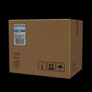 紙箱子3d模型